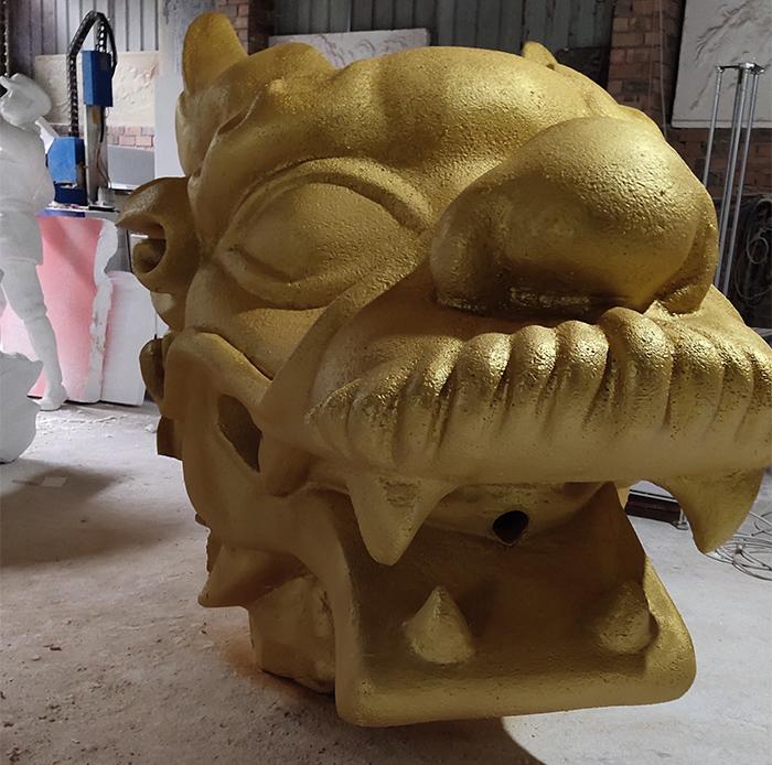 大型仿真龙头泡沫雕塑制作